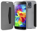 Puro Booklet Folio Samsung Galaxy S5 Transparant Black