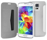 Puro Booklet Folio Samsung Galaxy S5 Transparant White