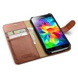 Spigen SGP Wallet case Samsung Galaxy S5 Brown