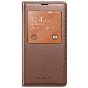 Samsung Galaxy S5 S-View Flip Cover Gold