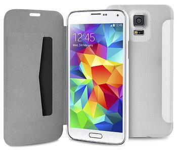 Puro Booklet Folio Samsung Galaxy S5 Transparant White