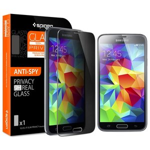 Spigen SGP Glas.tR Privacy Tempered Glass protector Galaxy S5