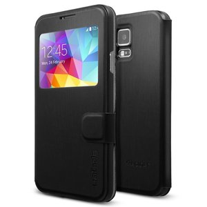 Spigen SGP Flip View case Samsung Galaxy S5 Black