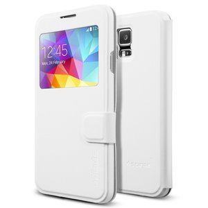 Spigen SGP Flip View case Samsung Galaxy S5 White