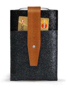 Mujjo Originals Wallet Samsung Galaxy S3 Grey/Brown